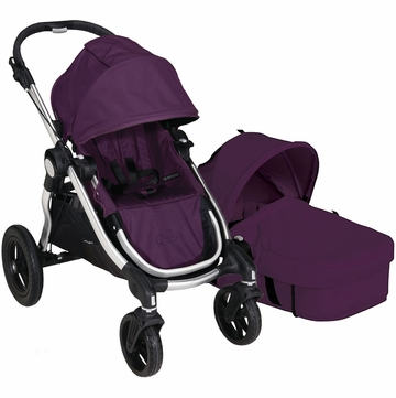 Baby Jogger City Select Stroller with Bassinet Kit in Amethyst