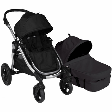 Baby Jogger City Select Stroller with Bassinet Kit in Onyx