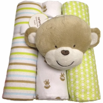 Carter's 3-Pack Receiving Blankets - Monkey