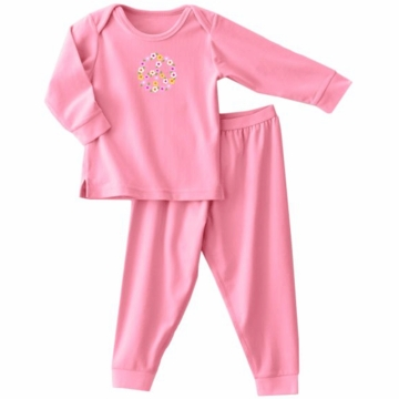 Halo ComfortLuxe Flannel Feel 2 Piece Set in Pink Peace - 18 Months