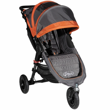 Baby Jogger City Mini GT Single Stroller Shadow / Orange