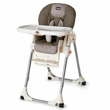 Chicco Polly Single-Pad High Chair in Chevron
