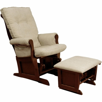 DaVinci Classic Sleigh Glider and Ottoman in Beige/Cherry