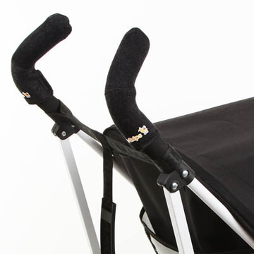 City Grips Stroller Handlebar Cover in Black Towel - Double Bar