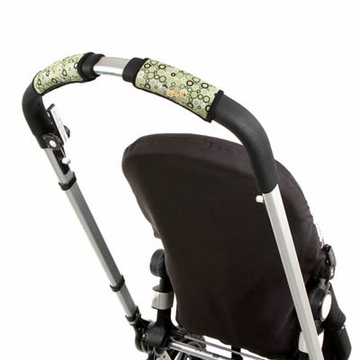 City Grips Stroller Handlebar Cover in Circle Green - Single Bar