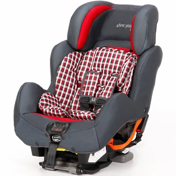 The First Years C680 True Fit SI Convertible Car Seat - Plaid Gray