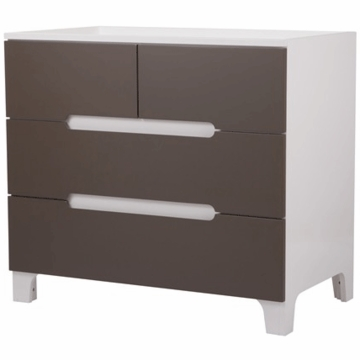 Bloom Alma Dresser in Coconut White with Frost Grey Drawers