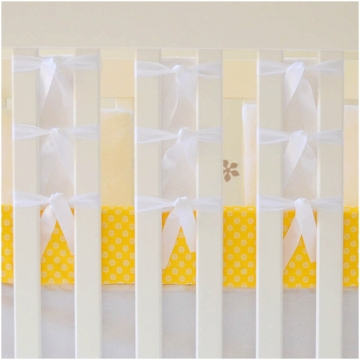 Oliver B 3 Piece Crib Bedding Set in White & Yellow