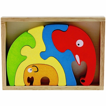 BeginAgain ImagiPLAY Elephant Family Puzzle