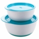 OXO Tot Small & Large Bowl Set in Aqua