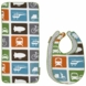 Dwell Baby Transportation 2 Bibs/Burp Cloth Sets