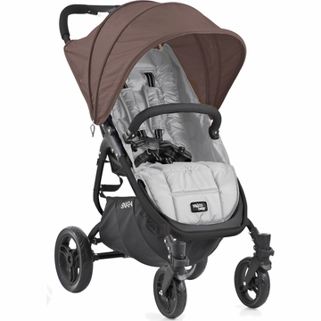 Valco Snap 4 Stroller and Hood - Silver/Spice