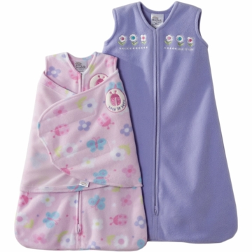 Halo Micro-Fleece 2 Piece Gift Set in Flowers/Ladybug - Newborn/Small