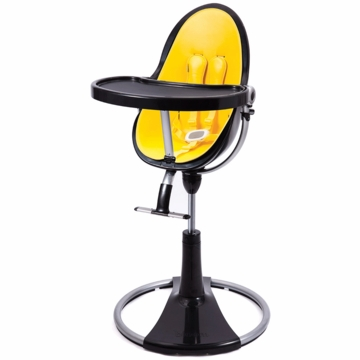 Bloom Fresco Highchair with Black Frame in Canary Yellow