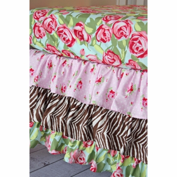Caden Lane Funky Rose 2 Piece Crib Bedding Set (Limited Edition)