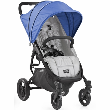 Valco Snap 4 Stroller and Hood - Silver/Blueberry
