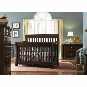 Bonavita Metro Lifestyle 3 Piece Nursery Set in Chocolate - Crib, Double Dresser & 5 Drawer Dresser