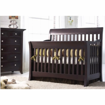 Bonavita Metro Lifestyle 2 Piece Nursery Set in Classic Cherry - Crib & 5 Drawer Dresser