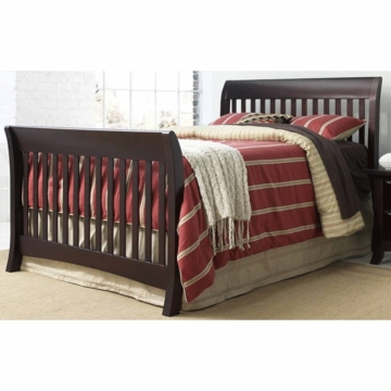 Bonavita Metro Universal Full Size Bed Rail in Chocolate