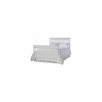 Bonavita Metro Universal Full Size Bed Rail in Classic White