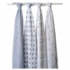 Aden + Anais 100% Cotton Muslin Swaddle Wrap-4 Pack - Prince Charming
