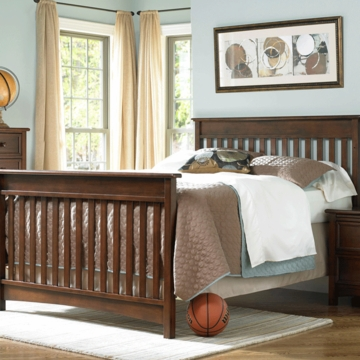 Bonavita Peyton Full Size Bed Rail in Chestnut