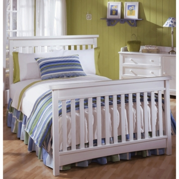 Bonavita Peyton Full Size Bed Rail in Classic White