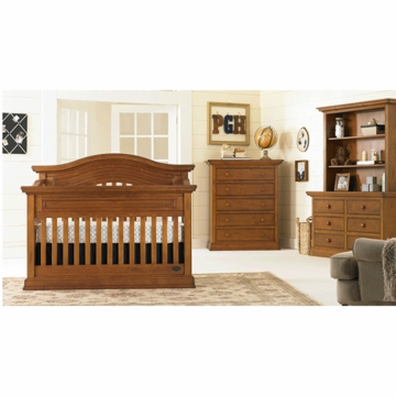 Bonavita Sheffield Lifestyle 3 Piece Nursery Set in Distressed Country Wheat - Lifestyle Crib, Double Dresser & 5 Drawer Dresser