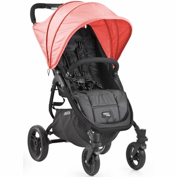 Valco Snap 4 Stroller and Hood - Black/Coral