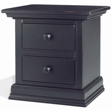 Bonavita Sheffield Nightstand in Distressed Black