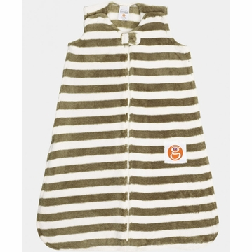 Gunamuna Gunapod Striped Sleep Sack - Moss - Medium