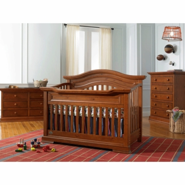 Bonavita Belmont Lifestyle 3 Piece Nursery Set in Distressed Country Wheat - Lifestyle Crib, Double Dresser & 5 Drawer Dresser
