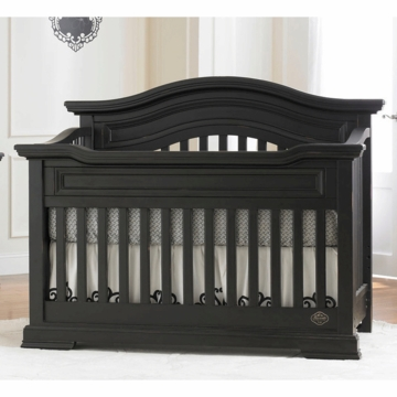 Bonavita Belmont Lifestyle Crib in Distressed Black