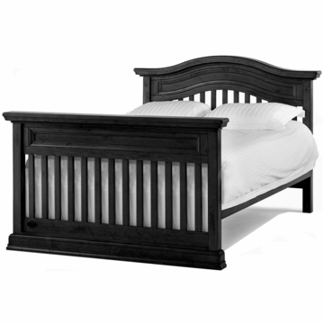 Bonavita Belmont Full Size Bed Rail in Distressed Black