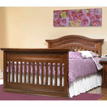 Bonavita Belmont Full Size Bed Rail in Dark Walnut