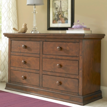 Bonavita Belmont Double Dresser in Dark Walnut
