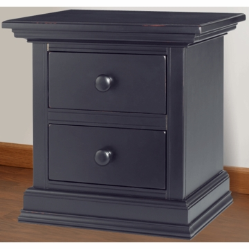 Bonavita Belmont Nightstand in Distressed Black