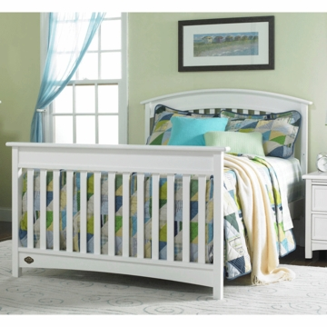 Bonavita Casey Full Size Bed Rail in Classic White