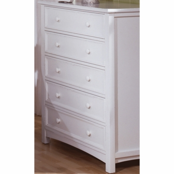 Bonavita Casey 5 Drawer Dresser in Classic White
