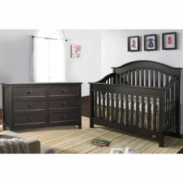 Bonavita Easton Lifestyle 2 Piece Nursery Set in Espresso - Lifestyle Crib & Double Dresser