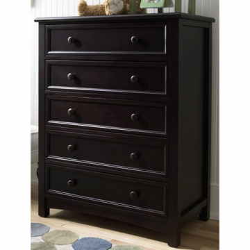 Bonavita Easton 5 Drawer Dresser in Espresso