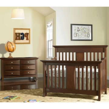 Bonavita Harper Lifestyle 2 Piece Nursery Set in Classic Cherry - Lifestyle Crib & Double Dresser