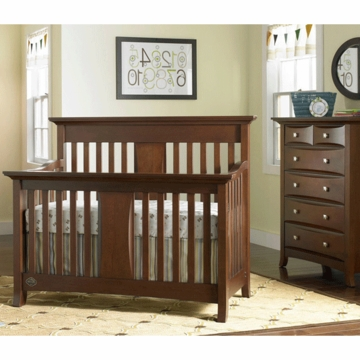 Bonavita Harper Lifestyle 2 Piece Nursery Set in Chocolate - Lifestyle Crib & 5 Drawer Dresser