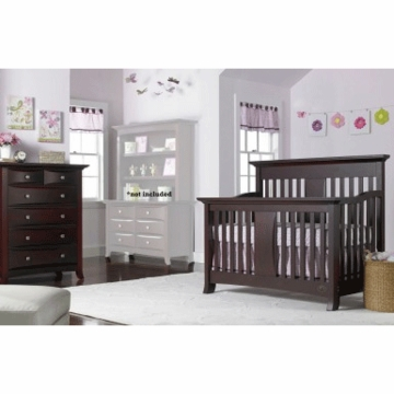 Bonavita Harper Lifestyle 2 Piece Nursery Set in Classic Cherry - Lifestyle Crib & 5 Drawer Dresser