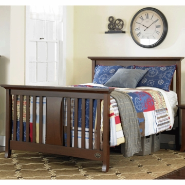 Bonavita Harper Full Size Bed Rail in Chocolate