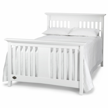 Bonavita Harper Full Size Bed Rail in Classic White