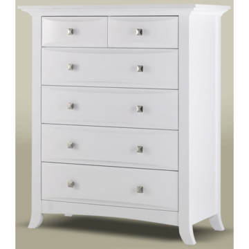 Bonavita Harper 5 Drawer Dresser in Classic White