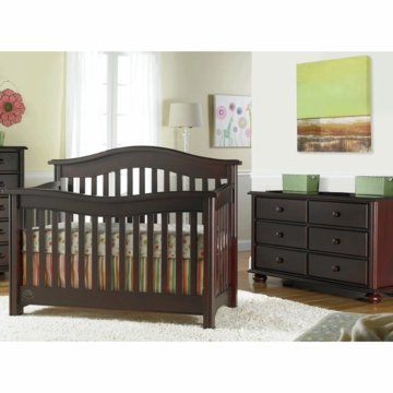 Bonavita Kinsley Lifestyle 2 Piece Nursery Set in Classic Cherry - Lifestyle Crib & Double Dresser