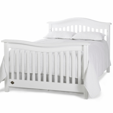Bonavita Kinsley Full Size Bed Rail in Classic White