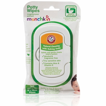 Munchkin Arm & Hammer Potty Wipes - 36pk